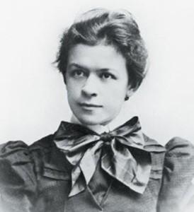 Милева Марич в возрасте 21 года (1896), когда она отправилась из своего дома в Новом Саду учиться в Цюрих.