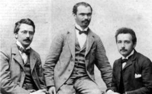 «Академики»: Конрад Габихт, Морис Соловин и Альберт Эйнштейн