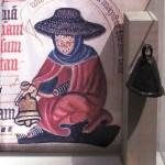 Средневековый прокаженный с колокольчиком