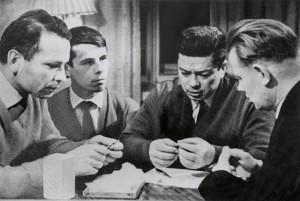 1966 год, Архангельск. Валерий Захаров (второй слева) и Святослав Федоров (второй справа). Фото: Из личного архива Захарова Валерия