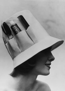 Шляпа с карманами для хранения. Видимо предназначалась для парикмахеров