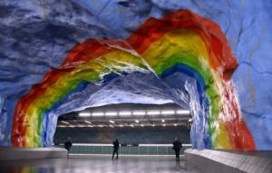 Станция метро Стадион в Стокгольме