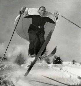 Лыжи с парусом (Швейцария, 1938)
