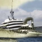 От «философского парохода» 1922 года – до яхты Абрамовича, на которой он может уплыть хоть сегодня Коллаж Алексея КОМАРОВА