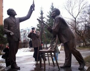 Открытие памятника героям освоения космоса в Калуге