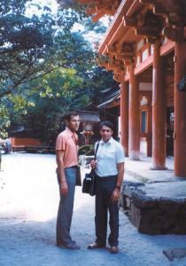 В. Рубаков и А. Линде в Киото, 1985 год