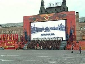Непрерывный поток истории. Москва, Красная площадь, 7 ноября 2011 года