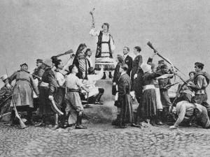 Открытка «Объединенные украинцы против Польши и России», 1920 год.