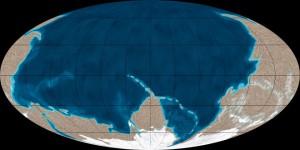 Палеокарта Земли. Эдиокарий. 600 миллионов лет назад