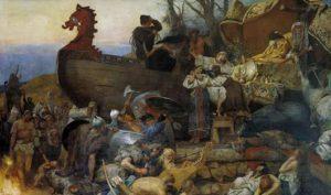 Генрих Семирадский, «Похороны знатного руса», 1883