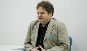 Андрей Пелипенко на лекции в Ельцин Центре летом 2016 года. Фото Любови Кабалиновой